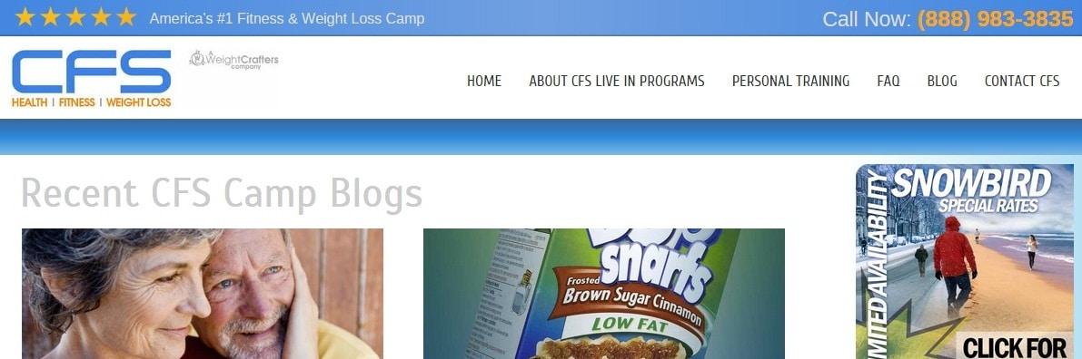 CFS Fitness & Weight Loss Camp Blog