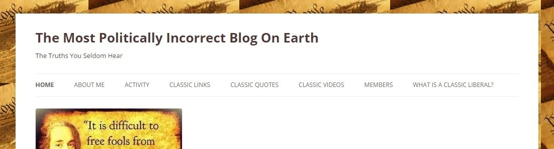 The Most Politically Incorrect Blog On Earth