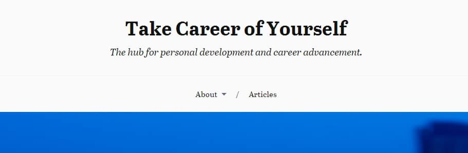 Take Career of Yourself