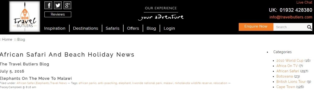 African Safari And Beach Holiday News